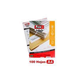 ETIQUETAS 210 X 297 MM A4 CANTOS RECTOS CAJA 100 HOJAS FIXO