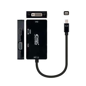 ADAPTADOR MINI DISPLAYPORT A VGA / DVI / HDMI NANOCABLE
